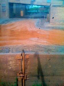 Оранжевая лужа